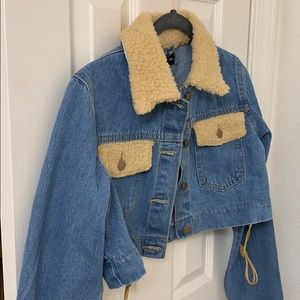 Sherpa Denim Jacket Pretty Little Thing